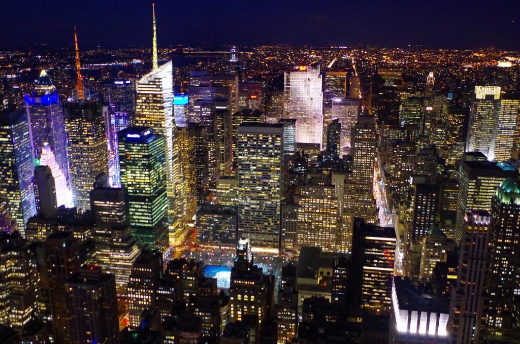 Noční výhled z Empire State Building