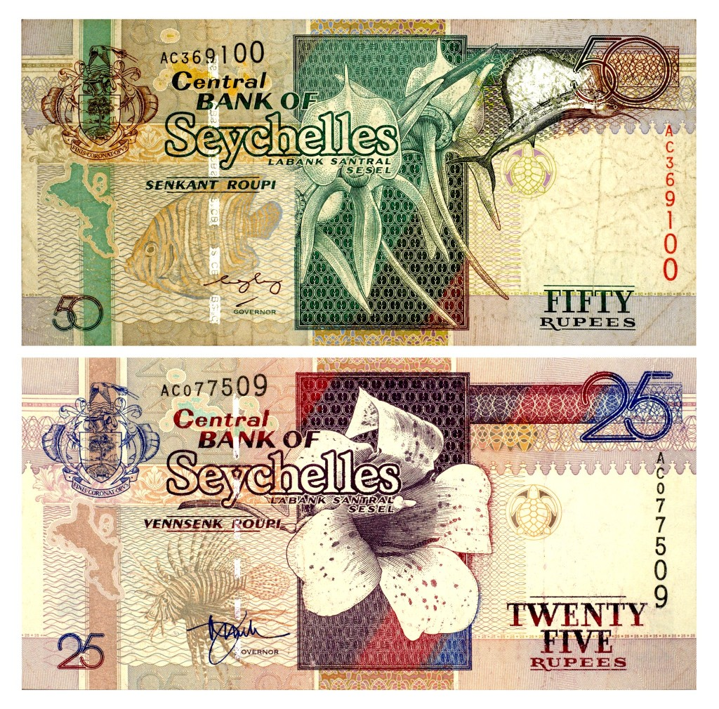 Seychelská měna - rupie