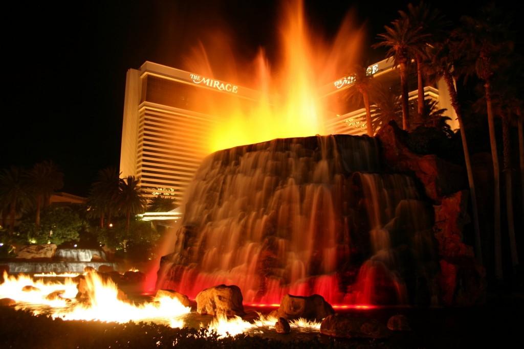 Vulkán u hotelu Mirage
