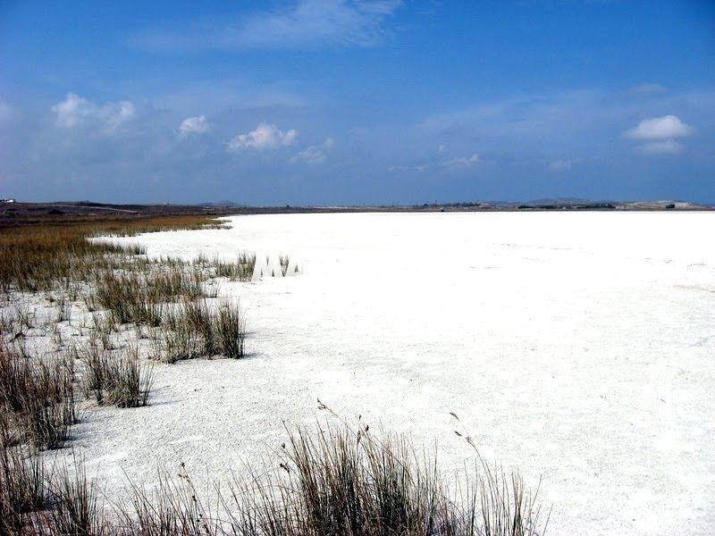 Slané jezero Aliki