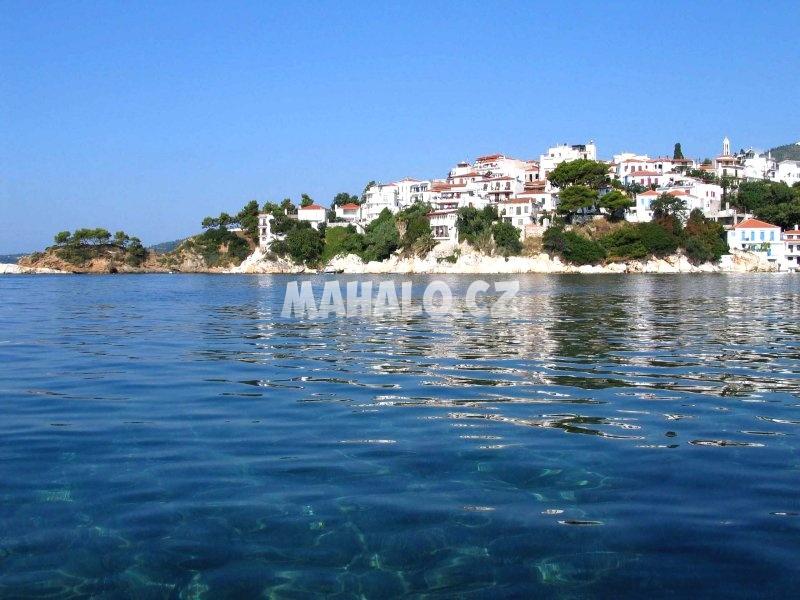 Výhled na město Skiathos