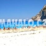 Vrak na pláži Navaggio