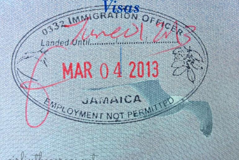 Celní a vízové informace, vízum na Jamajku