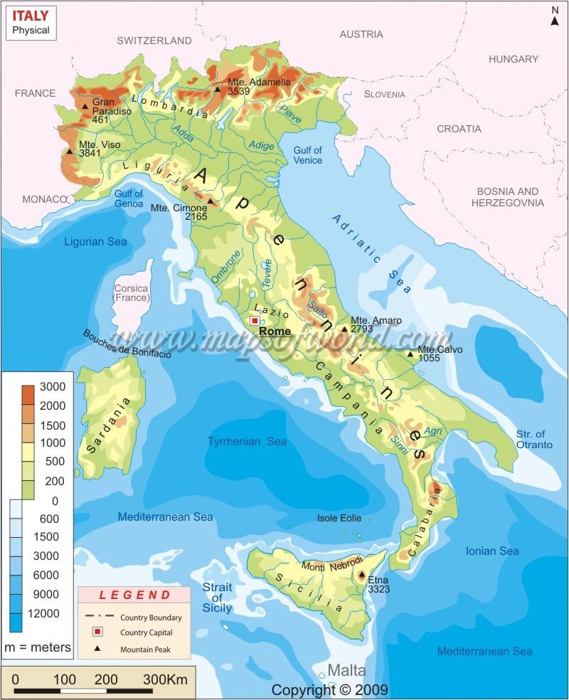 Geografie Italie Italie Mahalo Cz