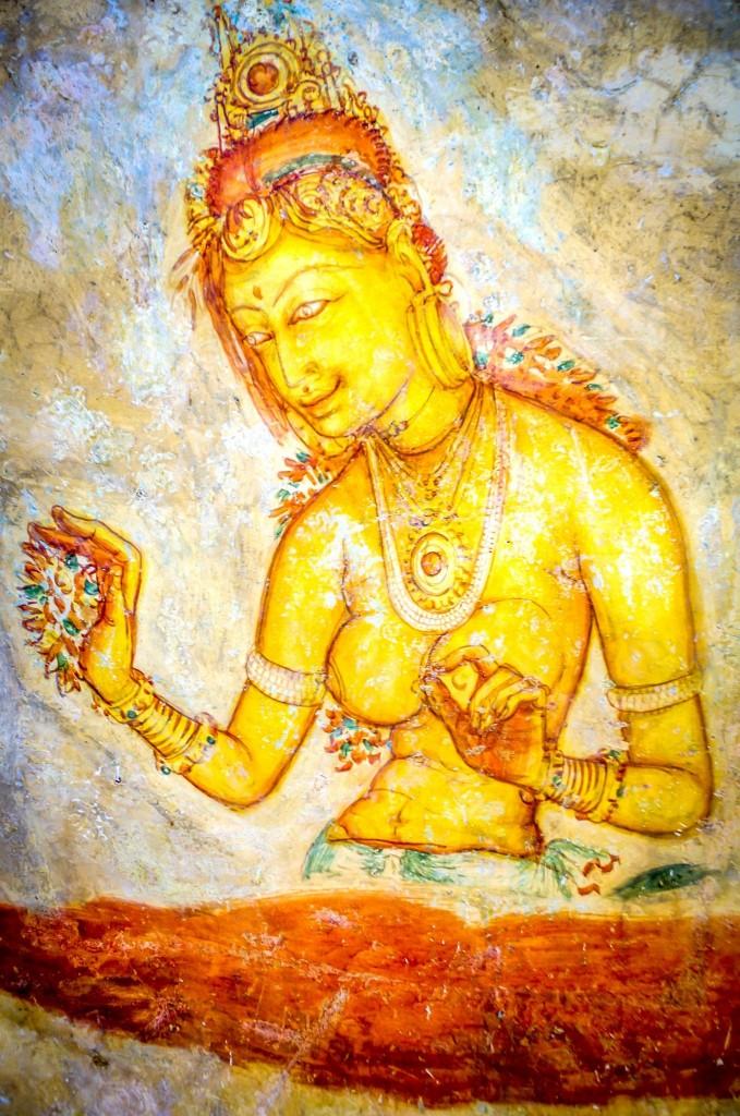 Sigiriyjská kráska nebo nadpřirozená bytost