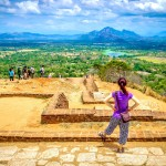 Výhled ze Sigiriye směrem k horám u Kandy
