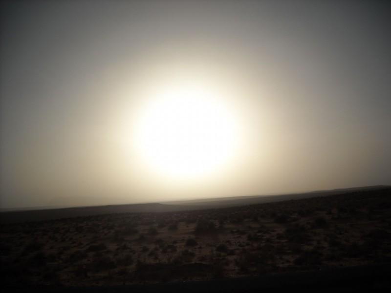 Slunce pomalu zapada