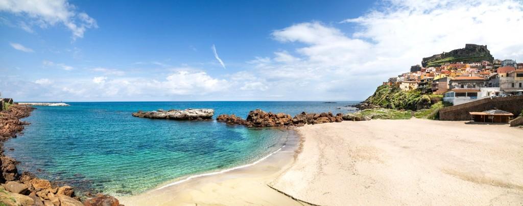 Pláž letoviska Castelsardo