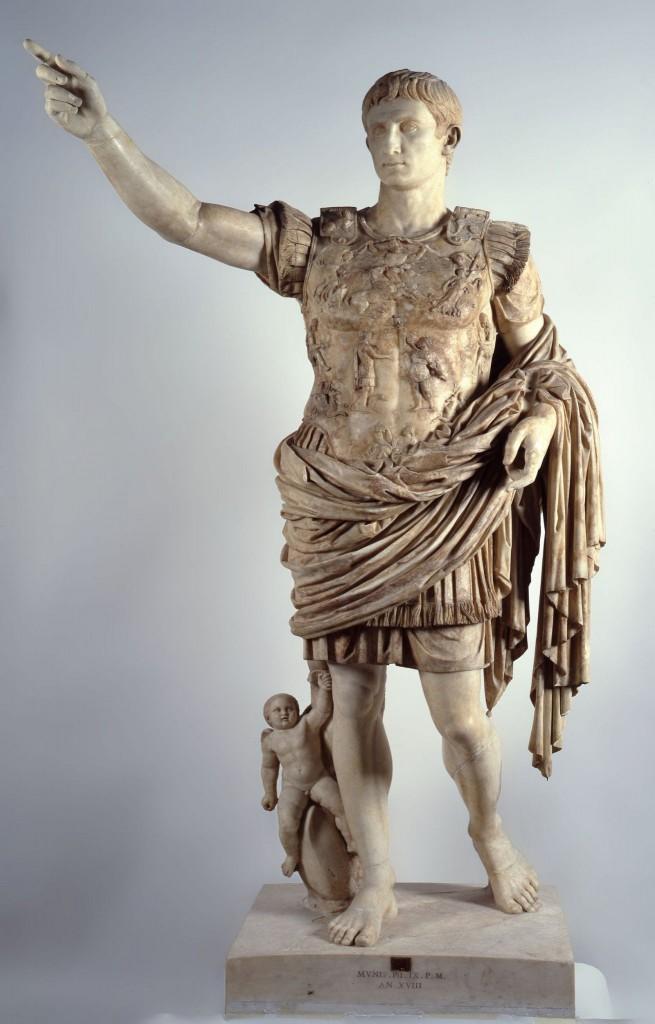 Socha císaře Augusta v Museo Chiaramonti