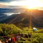 Výhled z vrcholu Adamovy hory