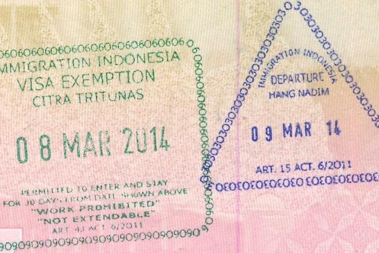 Vízum do Indonésie a celní předpisy