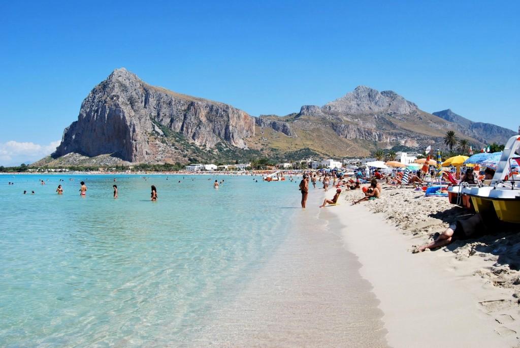 Pláž v San Vito lo Capo