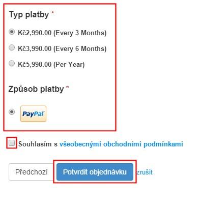 Typ platby