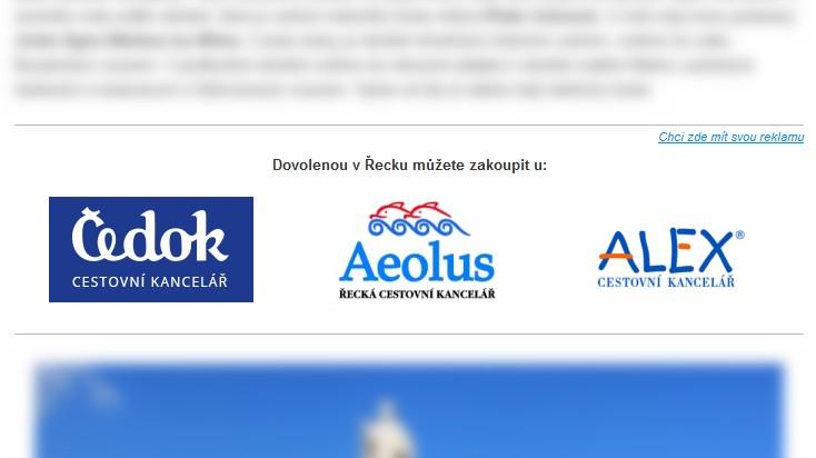Reklama pro cestovní kanceláře a agentury