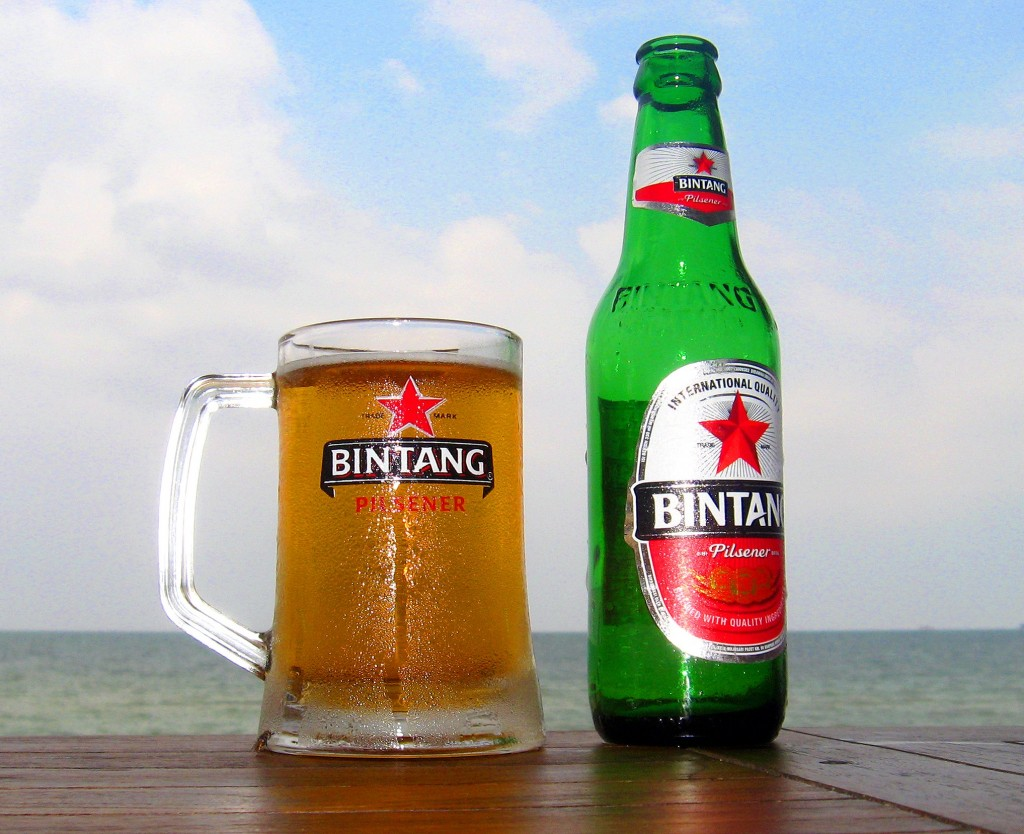 Indonéské pivo Bintang