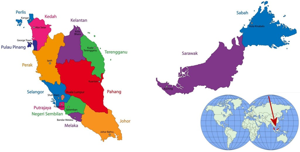 Mapa Malajsie