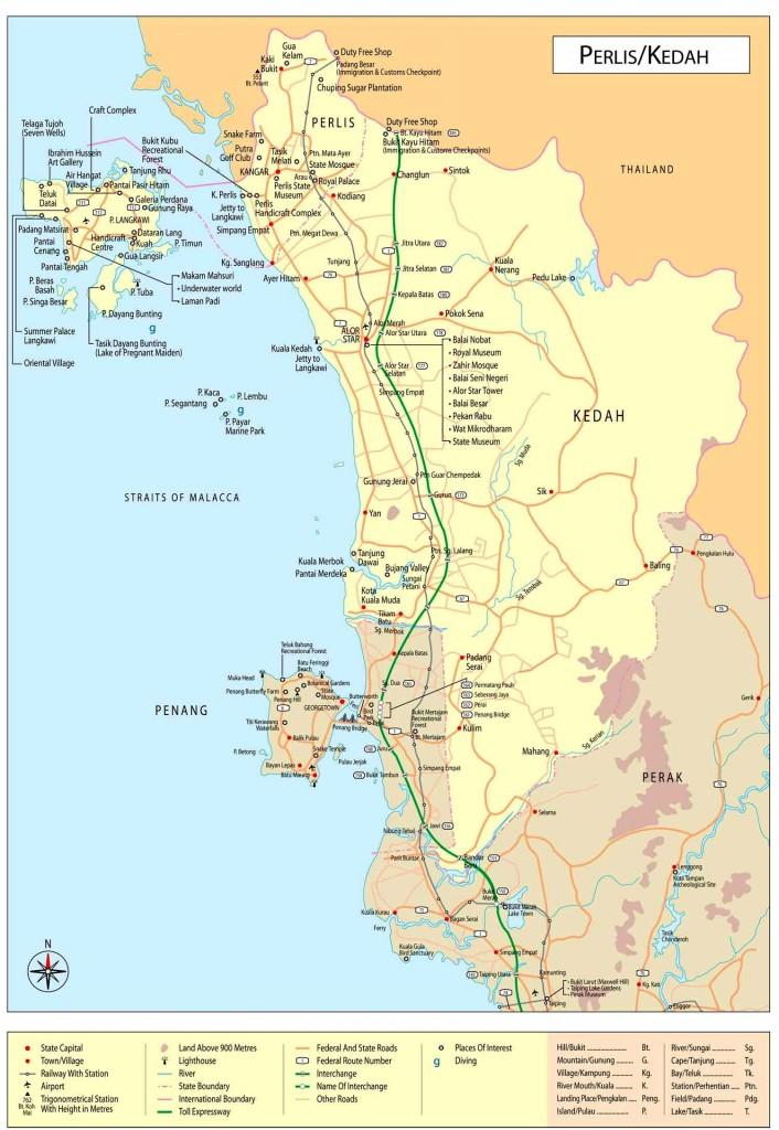 Mapa státu Perlis