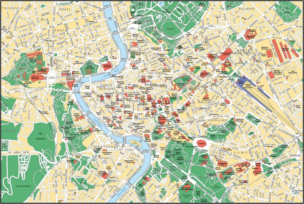 Mapa Říma