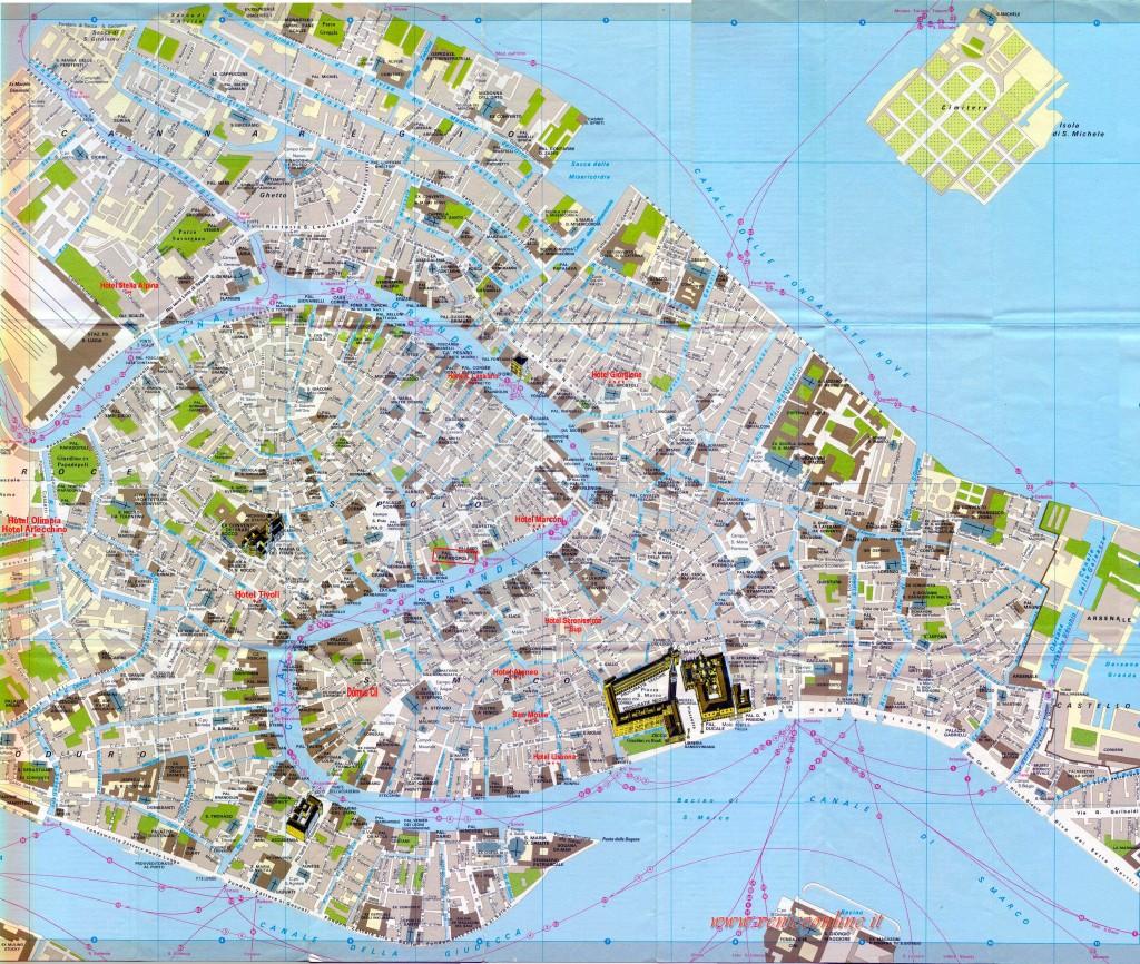 Mapa Benátek