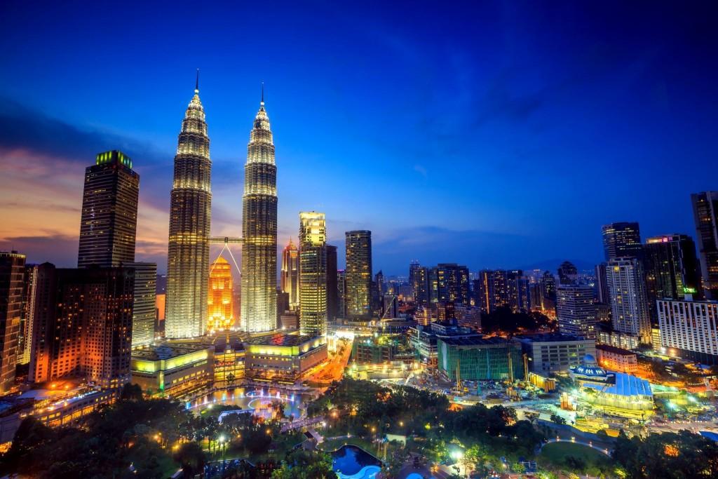 Kuala Lumpur v noci