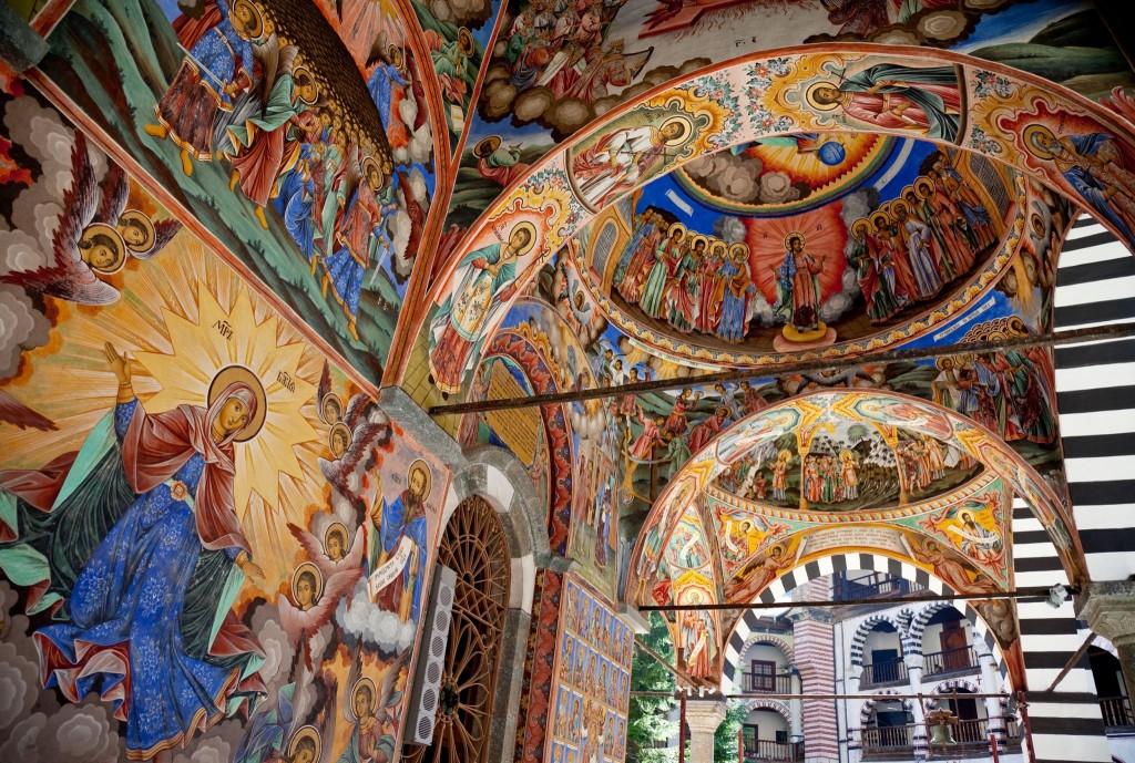 Výzdoba rilského kláštera
