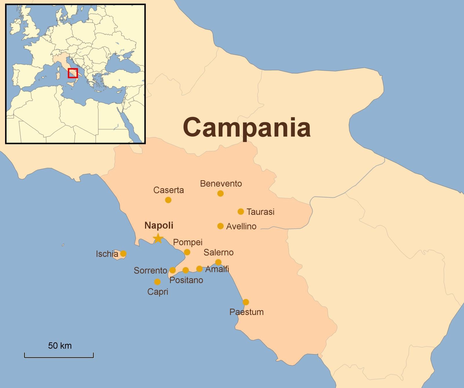 Pruvodce Po Regionu Kampanie Italie Mahalo Cz