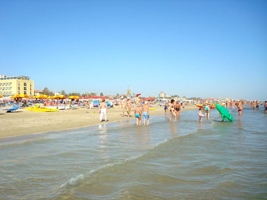 Pláž v Rimini