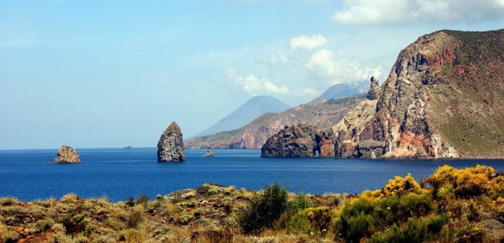 Typická krajina Liparských ostrovů