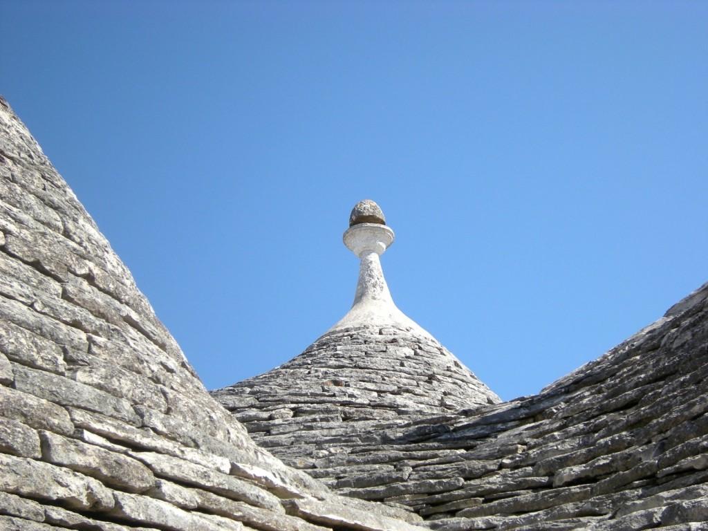 Detail střechy domu trulli