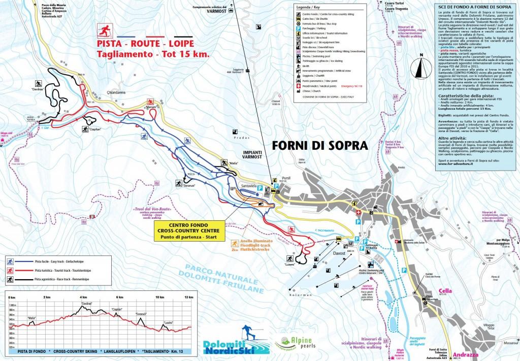 Mapa Forni di Sopra