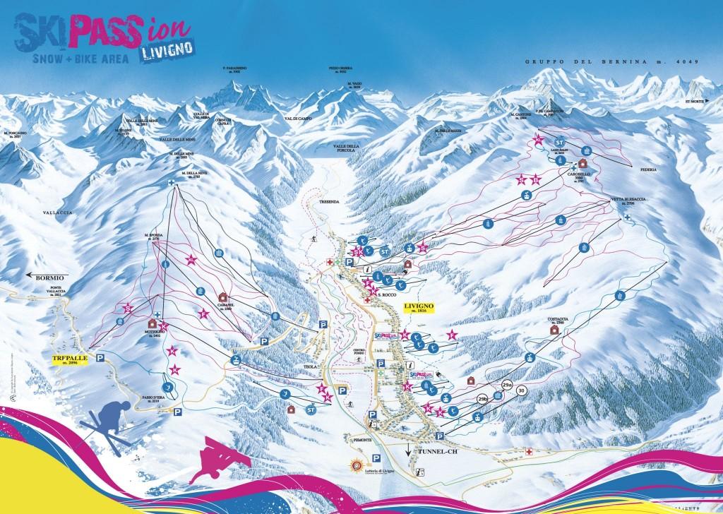 Mapa Livigno