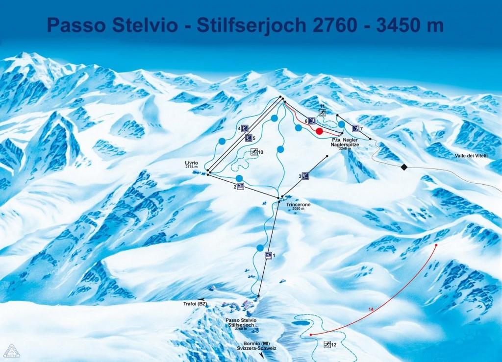 Mapa Passo Stelvio