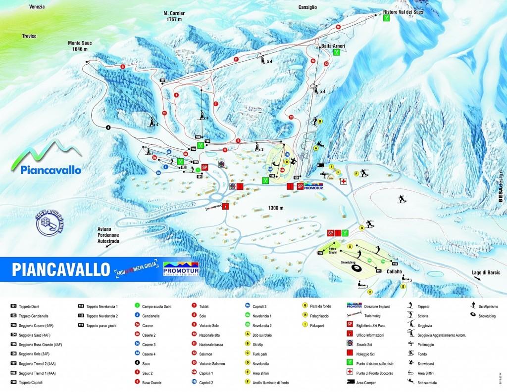 Mapa Piancavallo