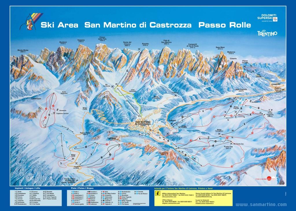 Mapa San Martino di Castrozza