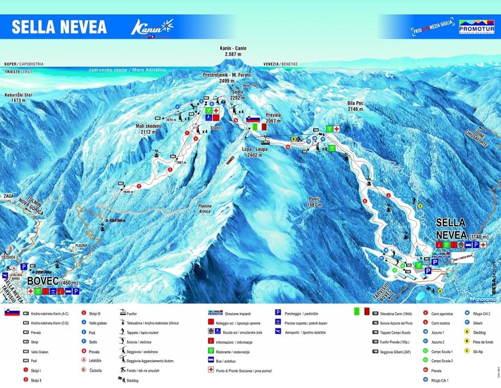 Mapa Sella Nevea