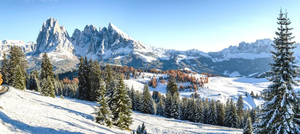 Lyžování v Alpe di Siusi (Seiser Alm)