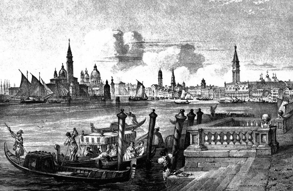 Benátky v roce 1850