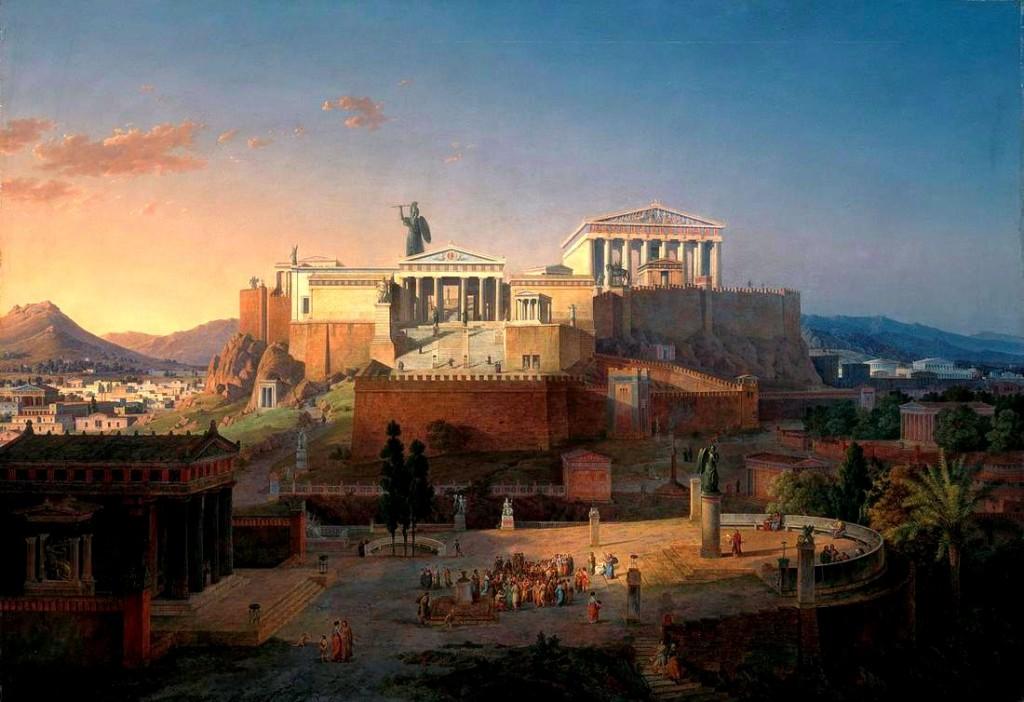 Jak asi vypadala Akropole v Athénách