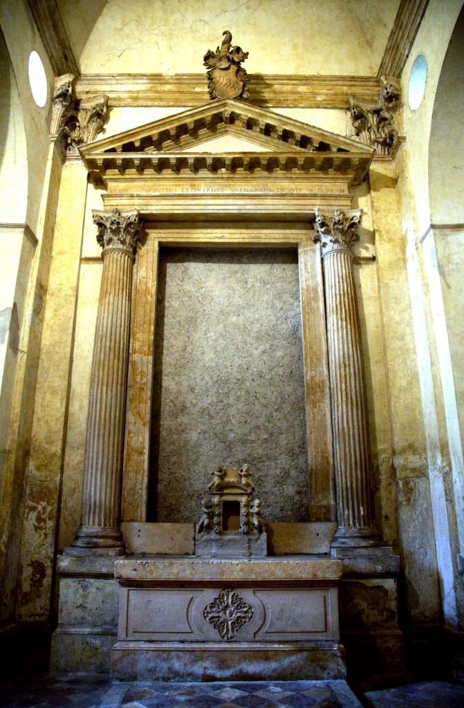 Oltář v kapli Valmarana