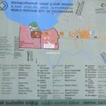 Plánek města Polonnaruwa