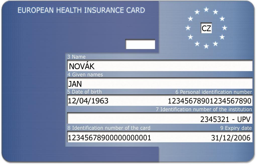 Průkaz evropského zdravotního pojištění (EHIC)