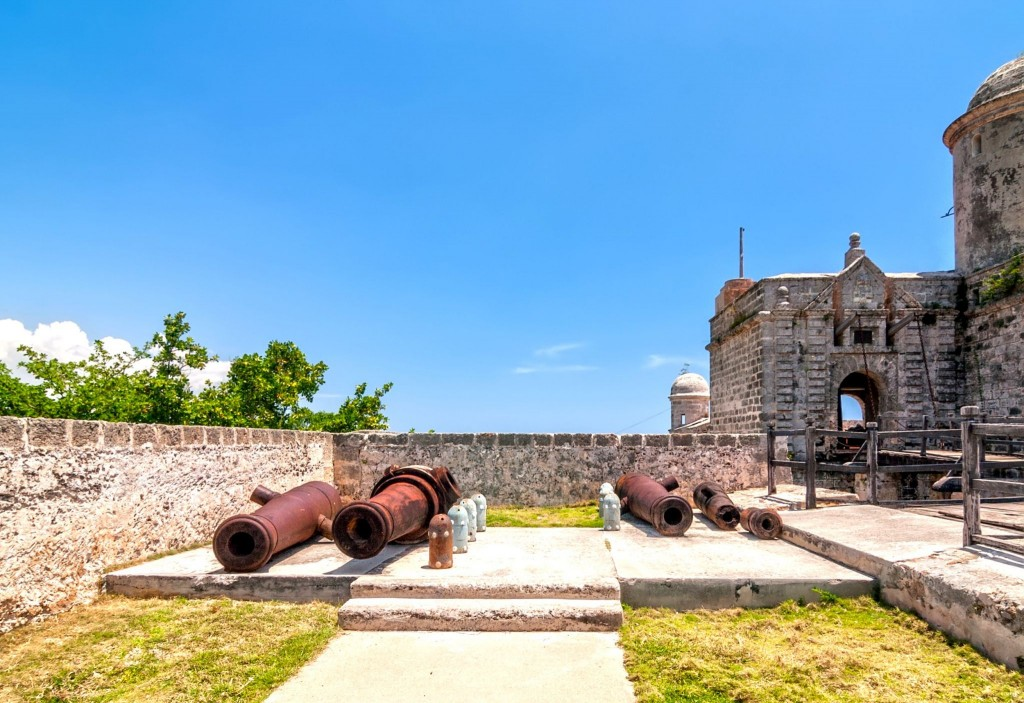 Stará děla v Castillo de Jagua