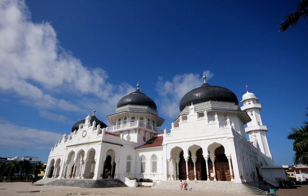 Mešita Masjid Raya Baiturrahman v Banda Aceh