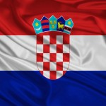 Detailní vlajka Chorvatska