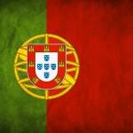 Detailní vlajka Portugalska