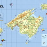 Mapa Baleárských ostrovů