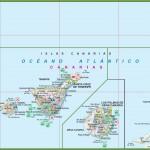 Mapa Kanárských ostrovů