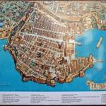 Mapa města Dubrovník