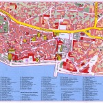 Mapa města Šibenik
