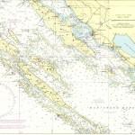 Mapa národního parku Kornati